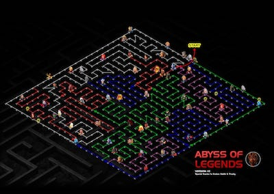 Abyss Of Legends (AOL) Map, Easy Path, and Node Details